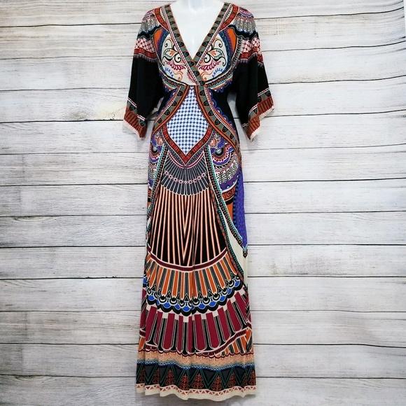 68d0fcc05fa Flying Tomato Dresses   Skirts - Flying Tomato Swell Bohemian maxi dress  Large